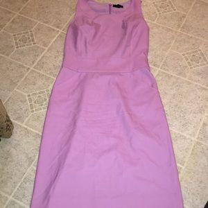 J Crew nwot pink lined wool pencil sheath dress 6